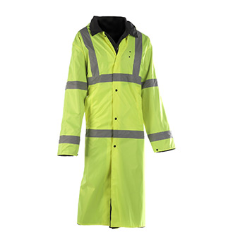 Liberty Uniforms Reversible ANSI 3 HI Viz Raincoat