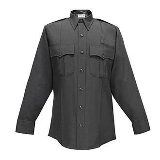 Fechheimer Men's Long Sleeve Zipper Front Poly Wool Shirt