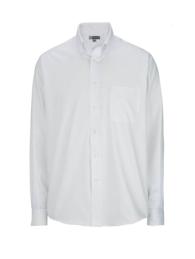Edwards Pinpoint Oxford Long Sleeve Dress Shirt