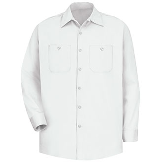 Red Kap Men's Long Sleeve Cotton Work Shirt