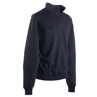 Galls Firefighter Quarter Zip Workshirt with Stand Up Collar