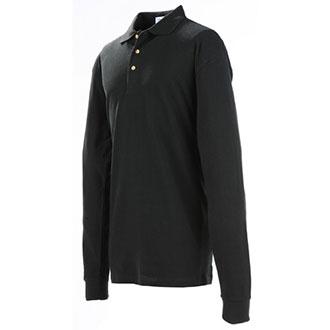 Galls Men's Long Sleeve Cotton Pique Knit Polo