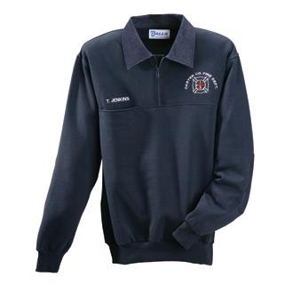 Galls Plain Firefighter Workshirt with Denim Collar