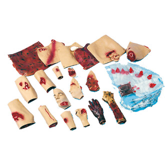 Simulaids Life-like Trauma Moulage Kit for the Full Bodied C