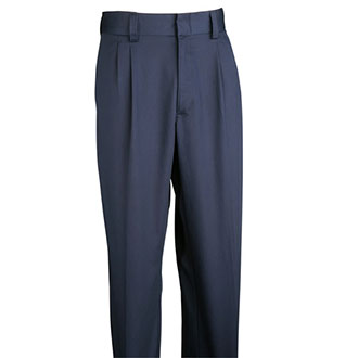 Galls Men's Pleated Front Navy Dress Trousers