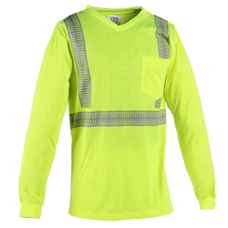 Transportation Safety Apparel ANSI Class 2 Long Sleeve T-Shi