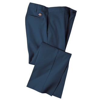 Dickies Industrial 100 Percent Cotton Twill Flat Front Pant