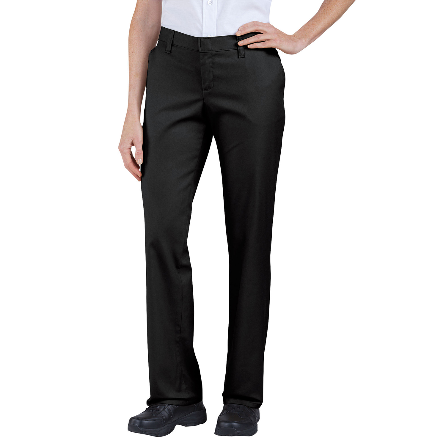 Dickies Womens Premium Relaxed Straight Flat Front Pant