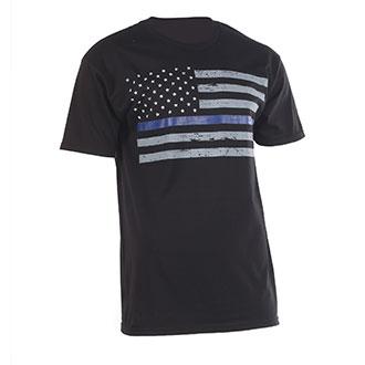 "Ranger Up ""Thin Blue Line"" Flag T-Shirt"