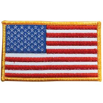 Penn Emblem Reflective American Flag Emblem for Left Sleeve