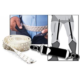 Galls Flexible Waist Belt and Shirt Garter