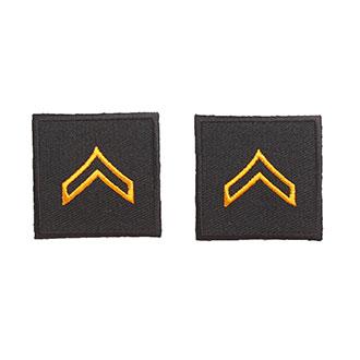"Hero's Pride Embroidered Rank 1-1/2"" x 1-1/2"""