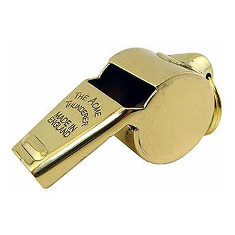 #60 1/2 Polished Brass Thunderer Whistle
