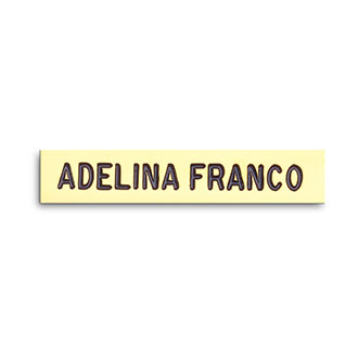 "Blackinton Nameplate, 2 1/4"" x 1/2"""