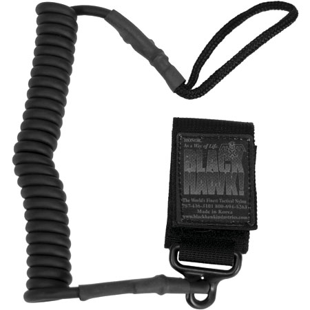 BLACKHAWK! Coiled Tactical Pistol Lanyard