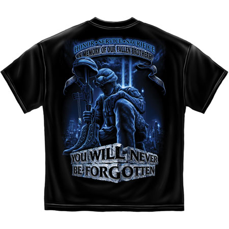 Erazor Bits Never Forget Fallen Soldier Short Sleeve T-Shirt