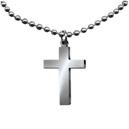 GI Jewelry Religious Cross Necklace