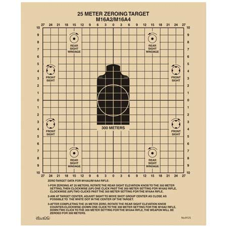 Rite in the Rain All-Weather 25 Meter Zeroing Targets (100 S