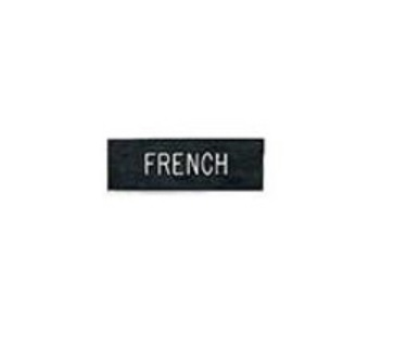"""LawPro Army Nameplate1""""' x 3"""" Black w/ White Lettering"""