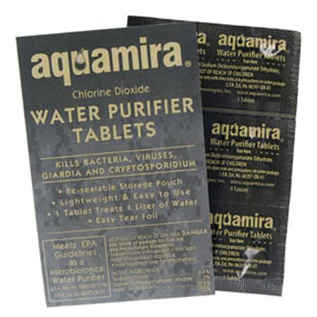 Aquamira Water Purifier Tablets - Military 10 Pack