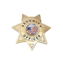 LawPro Deluxe Security Officer 7 Pt Star Badge
