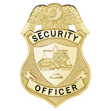 LawPro Security Officer Breast Badge with Lion