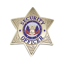 LawPro Deluxe Security Officer Six Point Star Badge