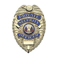 LawPro Private Security Officer Deluxe Badge