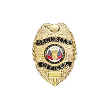 LawPro Lite Security Officer Badge, Black Enamel