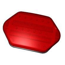 Highway Safety Light, Magnetic Back, Red LED