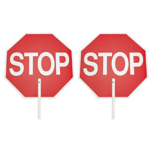 Safety Flag Company Stop/Stop Paddle Sign