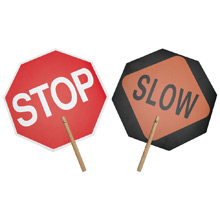 Safety Flag Company Stop/Slow Paddle Sign