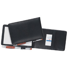 Strong Deluxe Black Leather Notepad