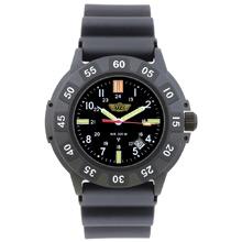 UZI Protector Tritium Watch Rubber Strap Black