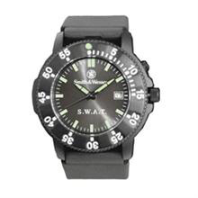 Smith & Wesson S.W.A.T. Watch, Black with Rubber Band