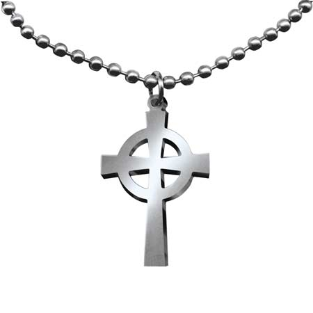 GI Jewelry Celtic Cross Necklace