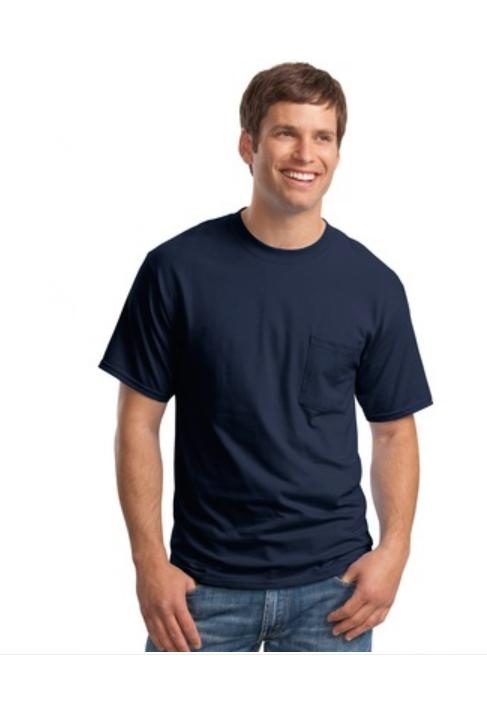 Hanes Beefy Cotton T-Shirt with Pocket