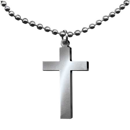 GI Jewelry Long Cross Necklace
