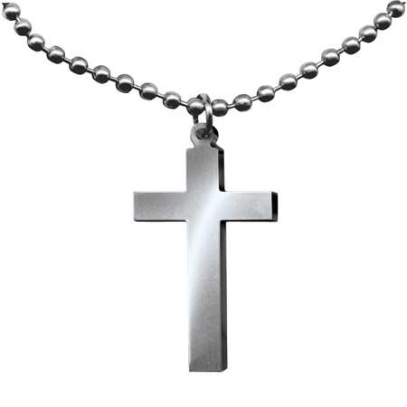 GI Jewelry Long Cross Necklace