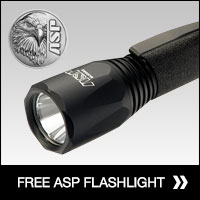 Free flashlight with holder and batteries