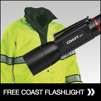 Free flashlight with Gerber jacket