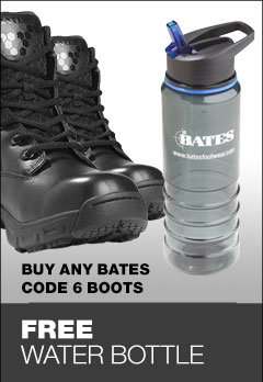 Free water bottle with Bates Code 6
