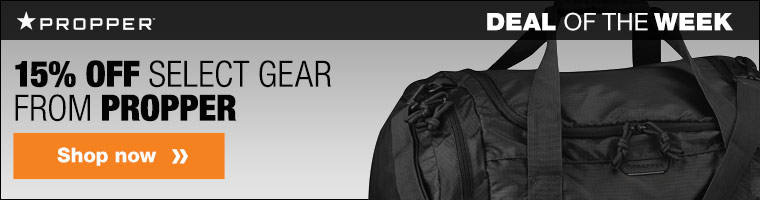 15% off select gear from Propper