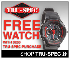 Free watch with Tru-spec purchases over $120