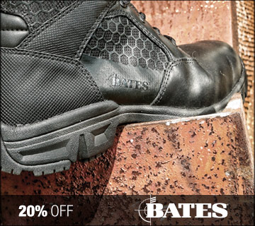20% off Bates footwear