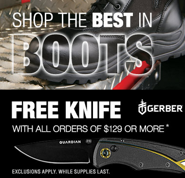Shop the best in boots plus free knife