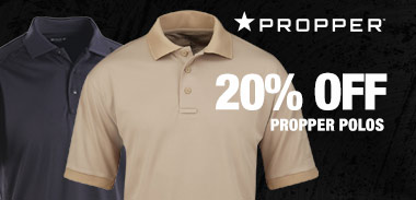 20% off Propper polos