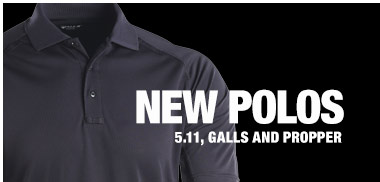 New polos from 5.11, Galls and Propper
