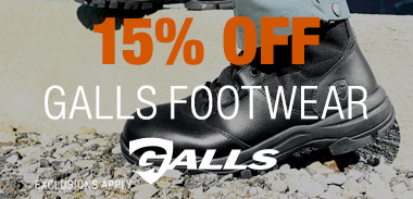 15% off Galls footwear*