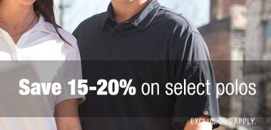 Save 15-20% on select polos